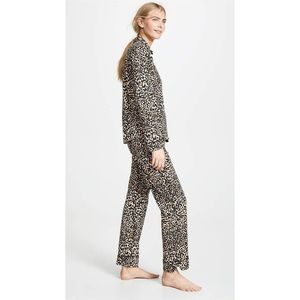PJ Salvage Give Love cheetah leopard print pajamas